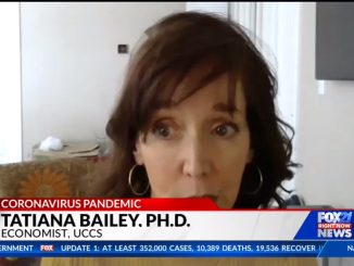 Screenshot of Tatiana Bailey conducting a remote interview