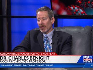 Screenshot of Chip Benight on a TV set