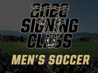 Text for the 2020 Signing Class graphic for men's soccer