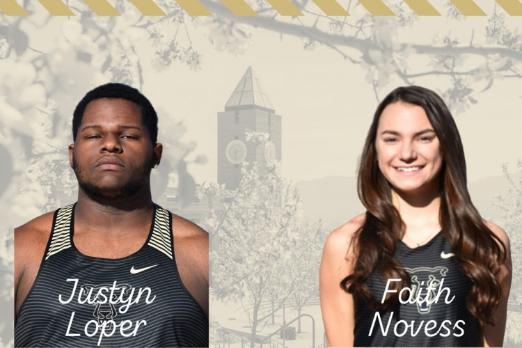 Headshots of Justyn Loper and Faith Novess