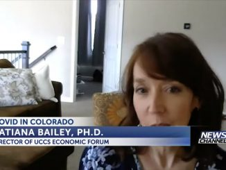 Screenshot of Tatiana Bailey at home during a video interview