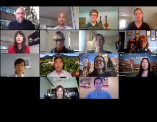 Screenshot of a video conference meeting