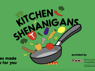Graphic for the April edition of Kitchen Shenanigans