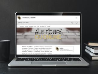 A laptop with the website for All Four: CU Online
