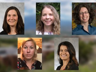 Headshots of five researchers at UCCS