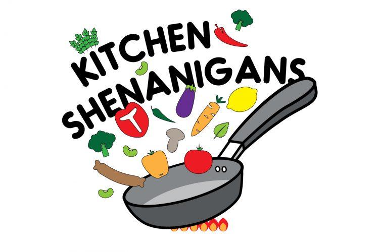Kitchen Shenanigans graphic on a white background
