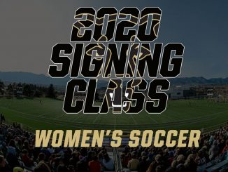 Signing graphic for the 2020 women's soccer class
