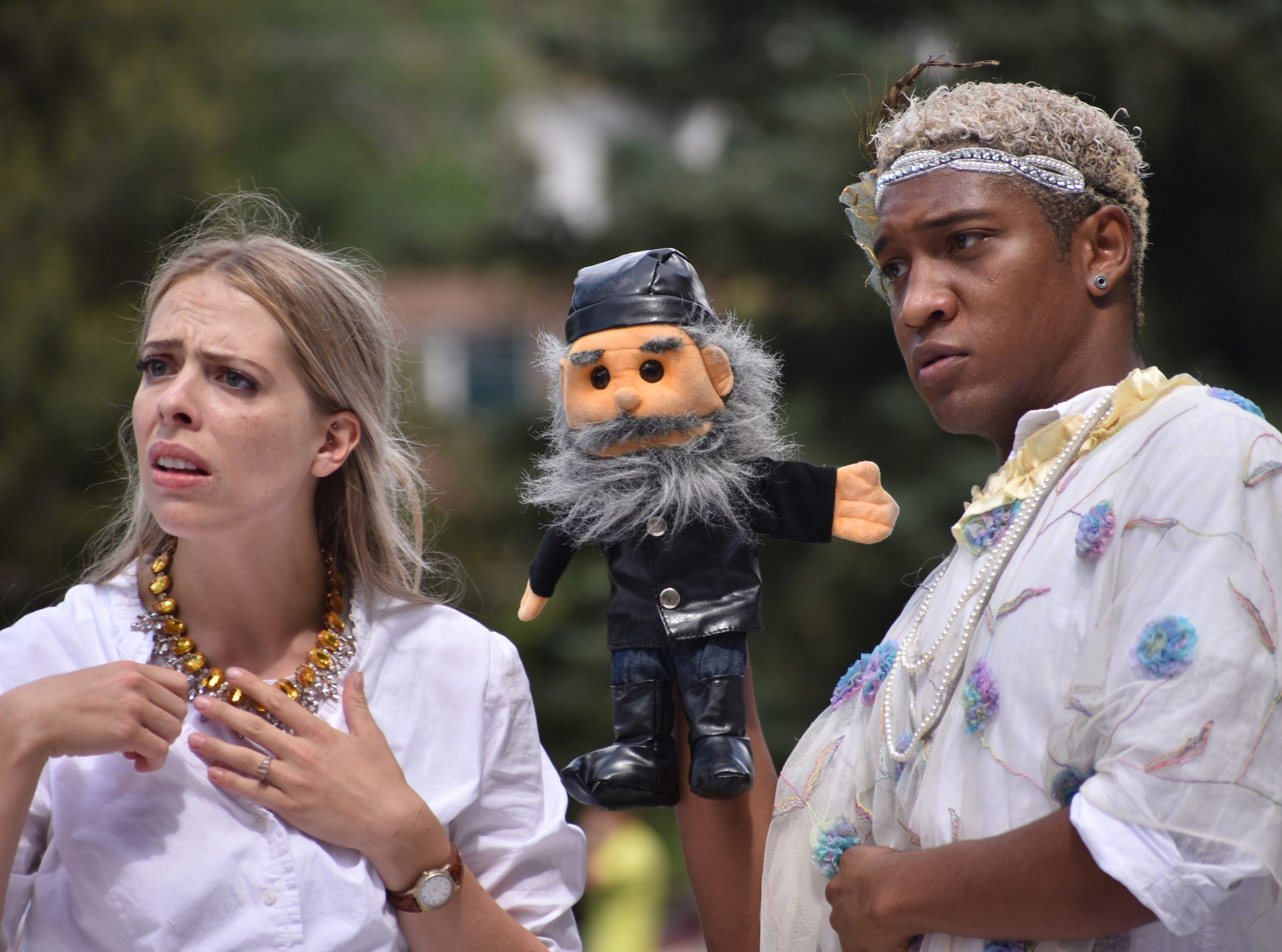 Two actors performing Dante in Shakespeare in the community