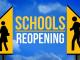 Schools reopening graphic