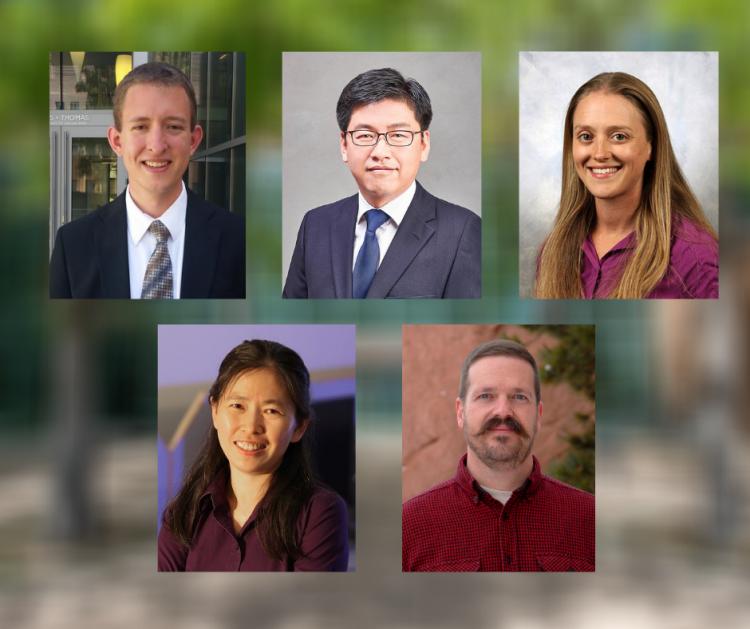 Headshots of five faculty members