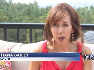 Screenshot of Tatiana Bailey on a porch