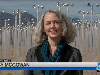 Daisy McGowan standing in front of the Windmill Project