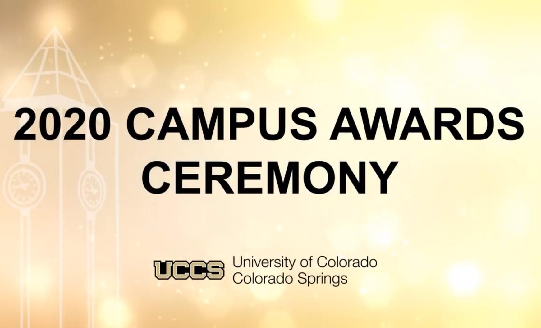 2020 Campus Awards Ceremony graphic