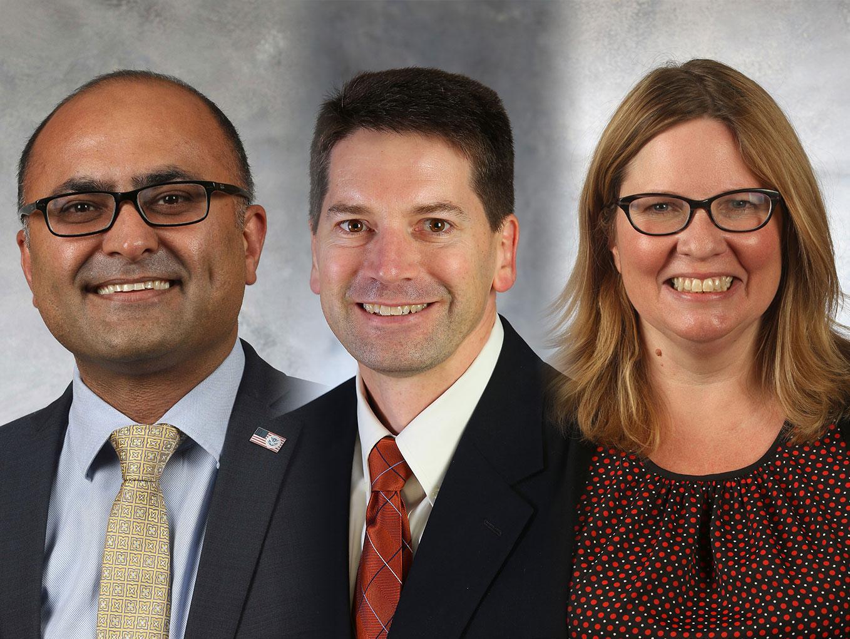 Headshots of Gurivender Tejay, Rob Block and Kristin Samuelson