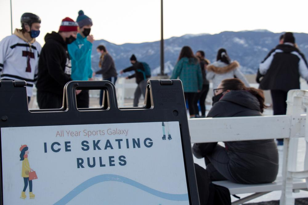 """Photo of sign that says """"Ice Skating Rules"""""""