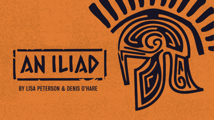 a decorative poster which says 'AN ILIAD'