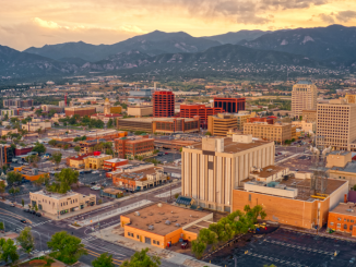 Colorado Springs Aerial Downtown